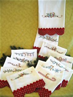 12 días de Navidad 416  estudio mano bordado patrón