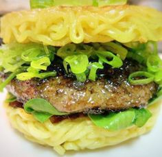 The Extremely Delicious Ramen Burger!  ...Recipe here.