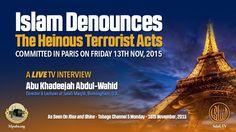 TV Interview   Islam Denounces The Heinous Terrorist Acts in Paris   Abū...