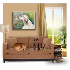 Dog portrait in the home interior.   Painting by CanisArtStudio.etsy.com   #painting  #portrait of your beloved #dog in the #livingroom