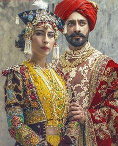 Ali Xeeshan for Mor Mahal, Pakistan Ethnic Fashion, Colorful Fashion, Asian Fashion, Fashion Photo, Pakistani Wedding Dresses, Pakistani Bridal, Indian Bridal, Bridal Lehenga, Ali Xeeshan