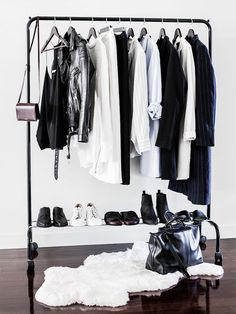 Ah, yes... The 4 pile concept, easy solution for streamlining your closet. via @WhoWhatWear. I do this well when organizing my clients wardrobe(could use a bit more in my personal closet;) xo