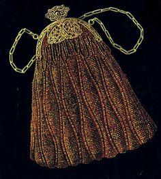 "bead knit purse, ""the Elisabethe"" 1920s"