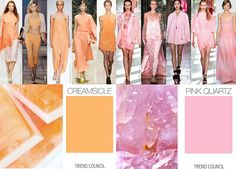 Creamsicle and Pink Quartz #SS15 #fashion #designer #colour #style #trend forecast