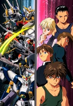 Gundam Wing. Ok, now don't judge me, but I was totally obsessed with this show when I was a middle schooler. My favourite was the blonde! :) But the other characters were intriguing as well--a great series overall.