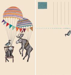 Postkaart_parachute_Liekeland_SHOP_2000pix