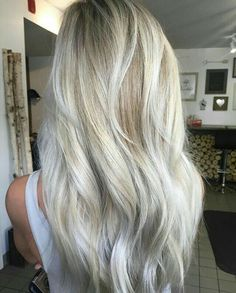 35 Ash Blonde Hair Color Ideas You Will Love, Our best scope of fiery remains blonde hair hues! Both complimenting and pardoning, fiery remains blonde hair color is perfect for decreasing warmth a. Trendy Haircut, Silver Blonde Hair, White Blonde, Fall Blonde, Silver Ombre, Icy Blonde, Bright Blonde, Grey Platinum Hair, Blonde Shades