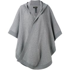 Burberry - hooded poncho - women -... (76.175 RUB) ❤ liked on Polyvore featuring outerwear, grey, burberry poncho, cashmere poncho, style poncho, grey cashmere poncho and wool poncho
