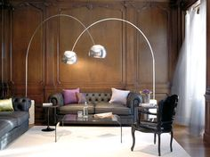 Arco lamp in the living room