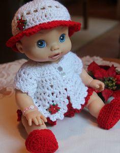 PDF PATTERN Crochet 12 13 Baby Alive Doll Yarn Short Jacket Set Sleeper Romper