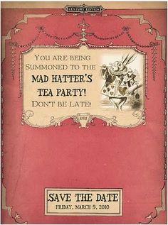 Mad Hatter Invite
