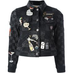 Marc Jacobs multi pin jacket (21.865 ARS) ❤ liked on Polyvore featuring outerwear, jackets, black, cotton jacket, marc jacobs jacket, straight jacket, checked jacket and long sleeve jacket