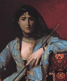 """Femme Circassienne Voílée,"""" painted in 1876 by Jean-Léon Gérôme"""