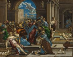 El Greco, Christ Cleansing the Temple, probably before 1570 | NGA, Washington