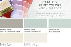 Spring 2017 paint colors from the Ballard Designs catalog — like Woodlawn Blue although cant find on this link Woodlawn Blue Benjamin Moore, Benjamin Moore Paint, Colorful Wallpaper, Of Wallpaper, Paint Schemes, Colour Schemes, Wall Colors, Paint Colors, Mud Paint
