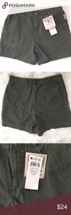 "Columbia Sportswear Ripstop Cargo Short Military Green. NWT. 5"" inseam. Columbia Shorts Cargos"
