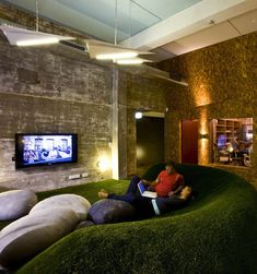 Red Bull has established a number of inspirational office spaces around the world, challenging architects to re-imagine contemporary working environments in each project. Sheargold Design created the concept for the company's Australian headquarters in Alexandria. The complex includes a cricket pitch, rooftop bar and informal meeting rooms were staff converge and collaborate.