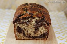 Chocolate Swirled Banana Bread {and Classic Banana Bread} | Our Best Bites...4 stars...really yummy there were no left overs from this recipe.