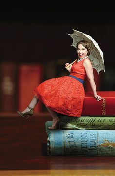 JO HOCKING - DIGITAL DIVA  Published Collections Development Officer, State Library of South Australia. As seen in the Adelaide* magazine's May 2012 issue. #Adelaide Photo: Sven Kovac    Jo wears dress & shoes from Liebe Fashion Gallery (567 Anzac Highway Glenelg North). Vintage umbrella from Antique Market (Grote Street).