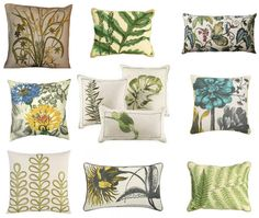Botanical Throw Pillows (http://blog.hgtv.com/design/2013/08/20/daily-delight-botanical-throw-pillows/?soc=pinterest) Family Dining Rooms, Hgtv Designers, Soft Pillows, Decorative Pillows, Designer Throw Pillows, Cushions On Sofa, Scatter Cushions, Cozy House, Home Crafts
