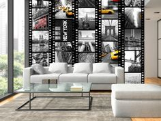 "Modern wallpaper ""NY - diversity"" #NY #newyork #wallpaper #wallpapers #photoNY #city #homedecor"