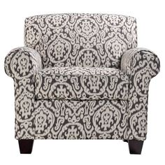Better Living Mira Gray And Ivory Medallion Arm Chair And Ottoman By Better  Living