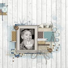 For the colour challenge at Designer Digitals - love the timber background!