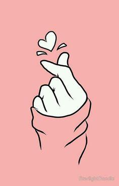 """Résultat de recherche d'images pour """"blackpink hand heart fan art"""""""
