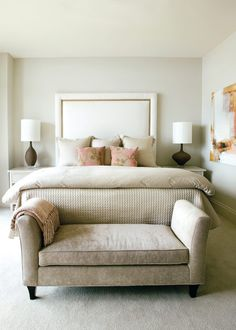 Restful palette that's simple yet gorgeous... master bedroom inspiration