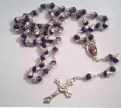 antiguo rosario violeta - Buscar con Google