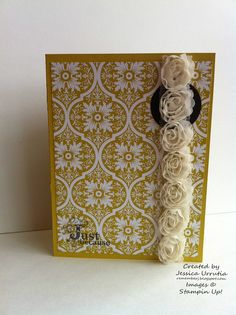RememberJ: Forever Young from Stampin'Up!  Flower trim from Stampin'Up!  Vintage verses