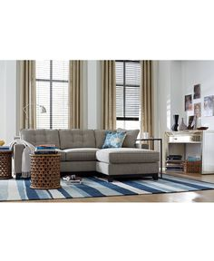 clarke fabric 2piece sectional sofa with chaise created for macyu0027s