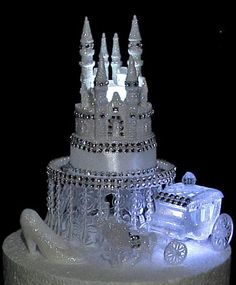 3 PC SET CINDERELLA CASTLE WEDDING CAKE TOPPER #42 $69.00