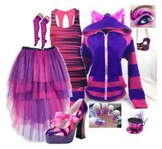 """""""Halloween Costume: Cheshire Cat"""" by secretsoftheslytherin ❤ liked on Polyvore"""