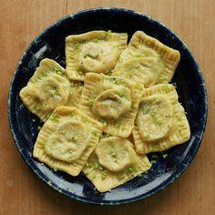 swiss chard & garlic scape ravioli