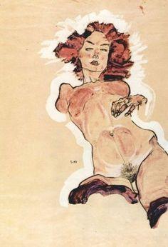 'Nu féminin' (1910), Egon Schiele
