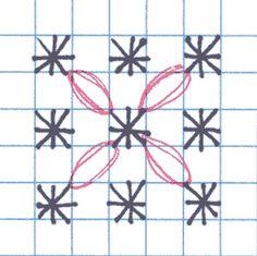 Woven Circle (Chicken Scratch) Variation 2 #freechickenscratch
