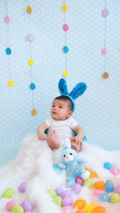 Baby first Easter Pictures done by: cindyportillophotography http://www.cindyportillophotography.com