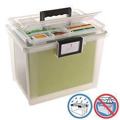 Watertight Portable File Tote- this could be really useful. possibly to store pics/mementos before they make their way into albums.