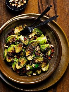 Buttery Pan-Fried Bacon Brussels Sprouts The humble Brussels sprout is transformed into a taste sensation with delicious bacon and crunchy hazelnuts mixed through. A perfect SIBO side dish. Suitable for Phase 1 Semi Restricted on the SIBO Bi Phasic Diet. Healthy Travel Food, How To Roast Hazelnuts, Butter, Sprout Recipes, Side Dish Recipes, Diet Recipes, Bacon, Brussels Sprouts, Dishes
