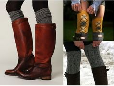 Cold Weather Advisory: High Socks With Boots