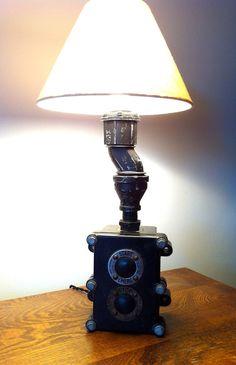 Vintage Steampunk Pipe Lamp