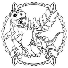 mandala dinosaure copyright Lin'ette Illustrations, Coin, Students, Cricut, Art, Mandalas, Dinosaurs, Reading, Art Background