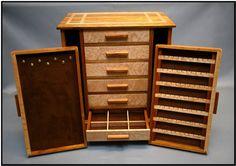 Canary Wood/Birds Eye Maple Jewelry box. $500.00, via Etsy.
