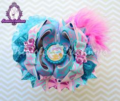 New beach #hairbow by #kassiascreations