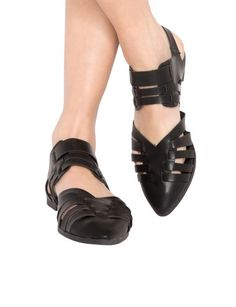 Cut Out Pointy Sandals