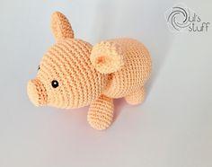 Puerco de crochet, amigurumi, puerco, puerco amigurumi, puerco tejida, cerdo amigurumi, cerdo tejido, cerdo de crochet de DulsStuff en Etsy