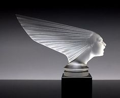 France Art Deco Bohemian Art Glass Victoire Car Mascot Hood Ornament