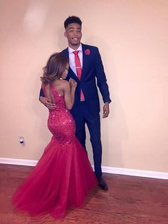Cheap mermaid prom dress, Buy Quality long mermaid prom dresses directly from China prom dresses Suppliers: Long Mermaid Prom Dresses New 2017 High Neck Beading Red African Cheap Evening Party Tulle Prom Gown Graduation Party Dress Black Girl Prom Dresses, Cute Prom Dresses, Prom Outfits, Mermaid Prom Dresses, Homecoming Dresses, Woman Dresses, Girl Outfits, Prom Photos, Prom Pictures