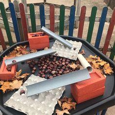 Autumn Eyfs Activities, Nursery Activities, Preschool Activities, Eyfs Classroom, Outdoor Classroom, Tuff Spot, Tuff Tray, Small World Play, Fall Preschool